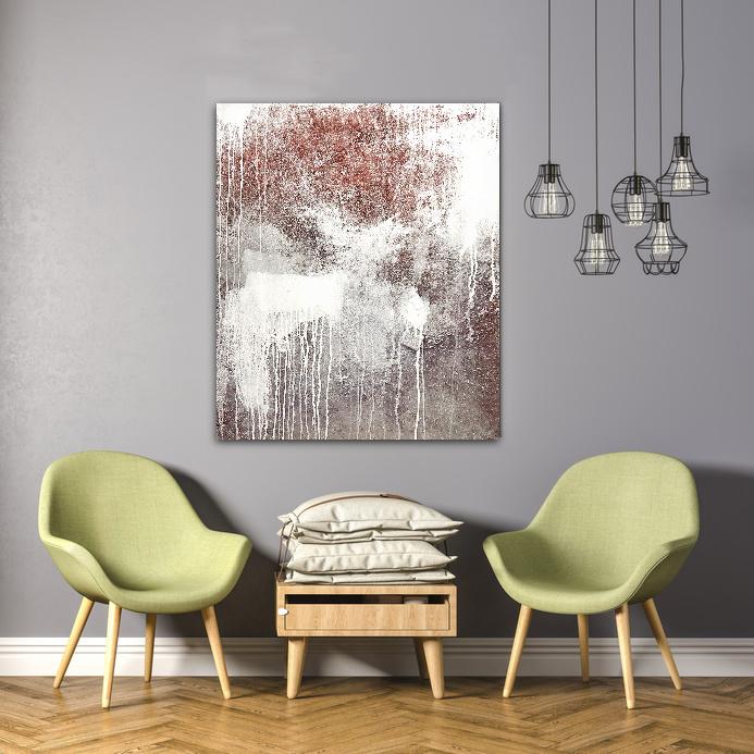 Bild silbern im Raum