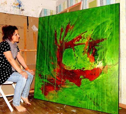 bild in grün