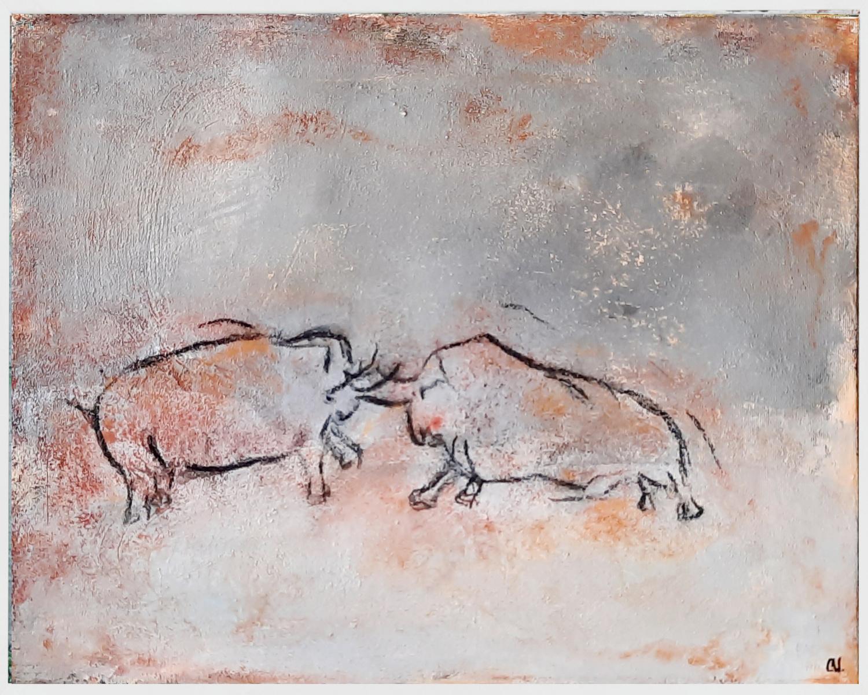 Höhlenmalerei - 50 x 40 cm Studienarbeit