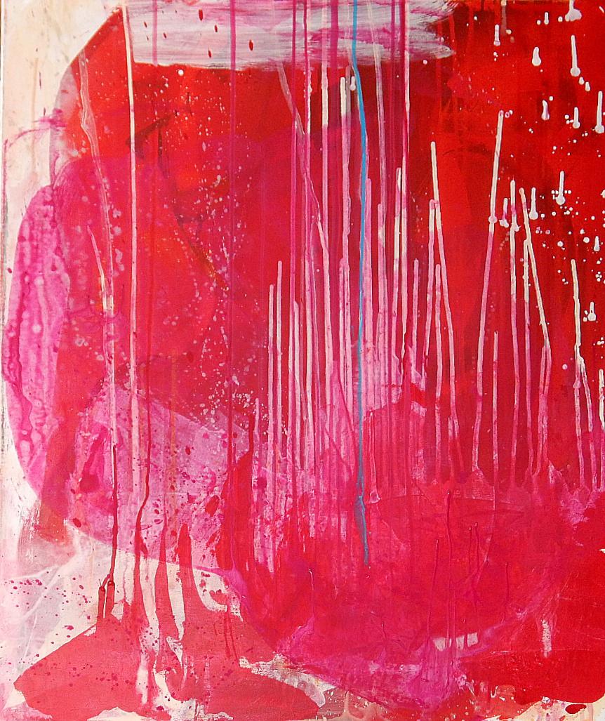 beige rot Kunst