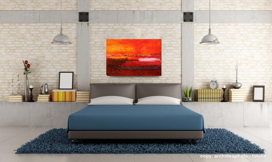 objekt im wohnraum - abstraktes bild