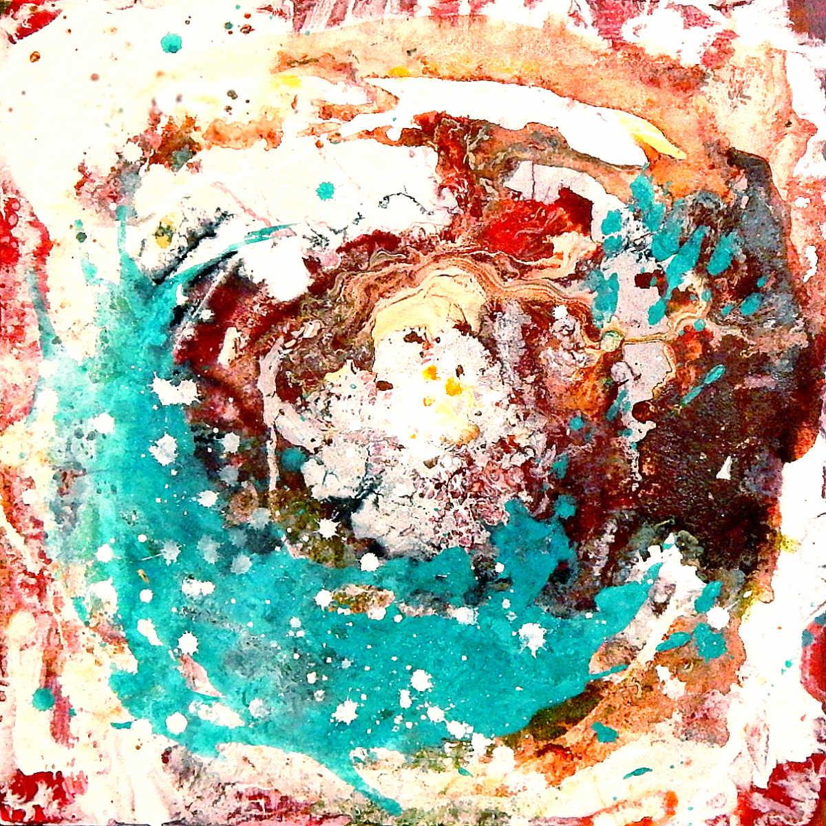 abstraktes Bild Mischtechnik