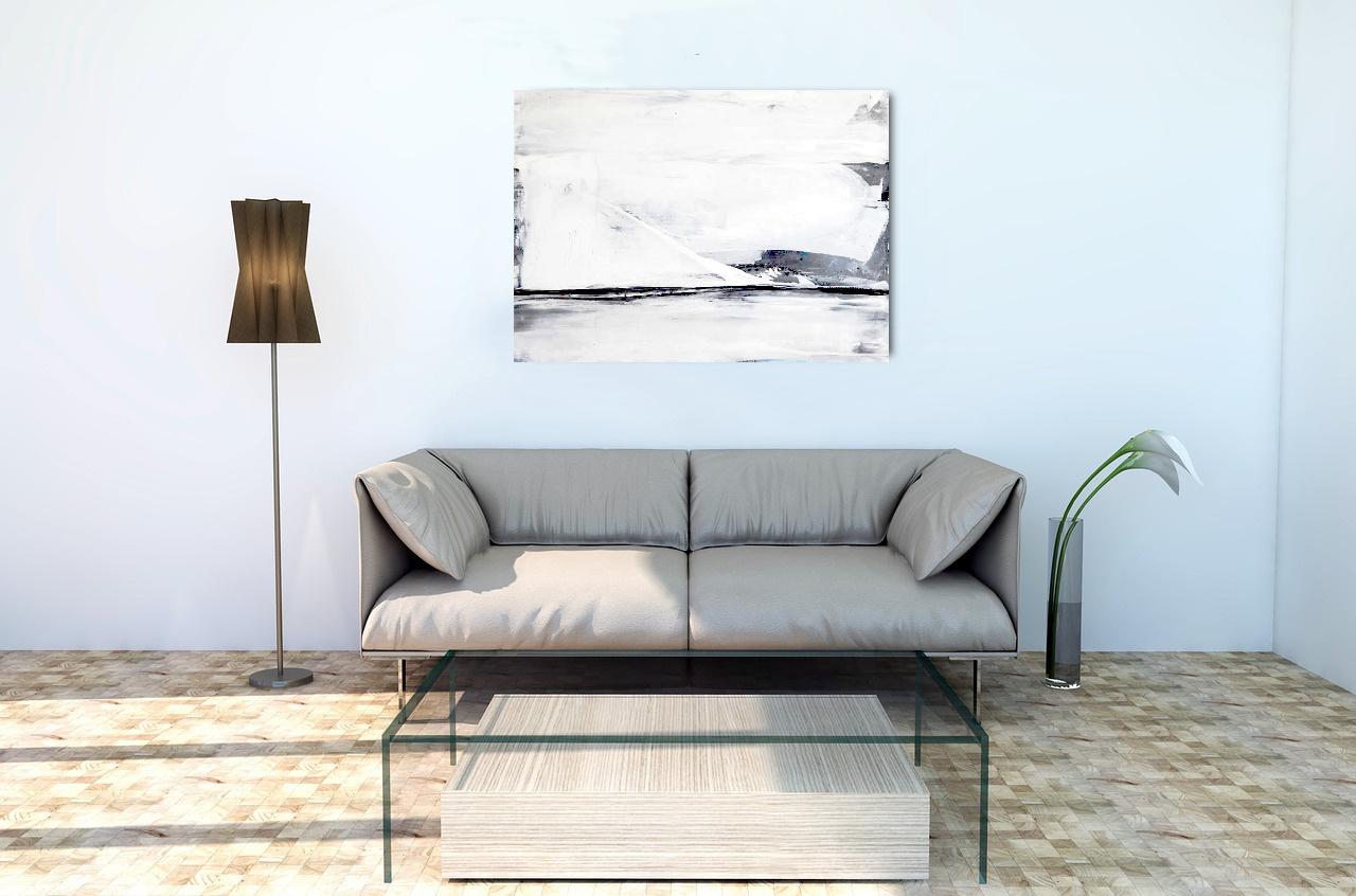 graues weißes Bild