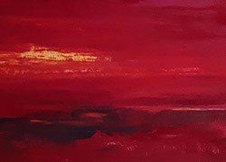 rote abstrakte Leinwandbilder
