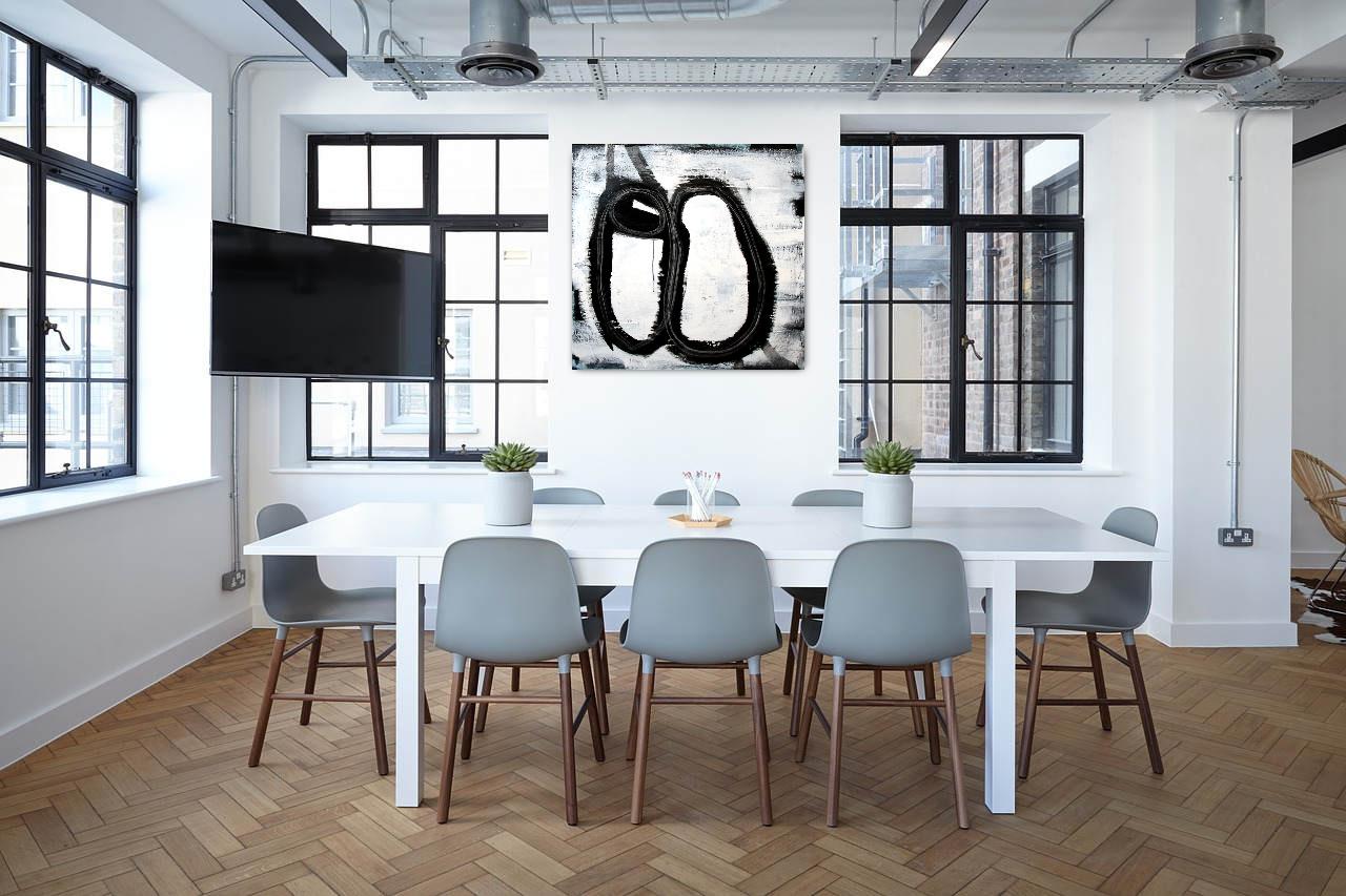 gemälde abstrakt schwarz weiß