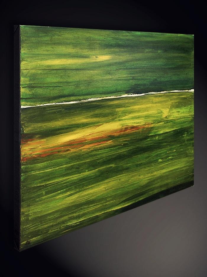 landschaftsbild grün gelb