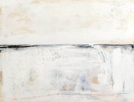 weiße abstrakte Gemälde - Acryl, moderne Malerei