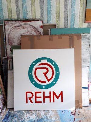 logo auf leinwand
