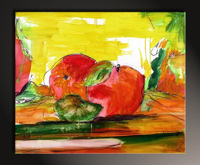 Apfelbild Gemälde