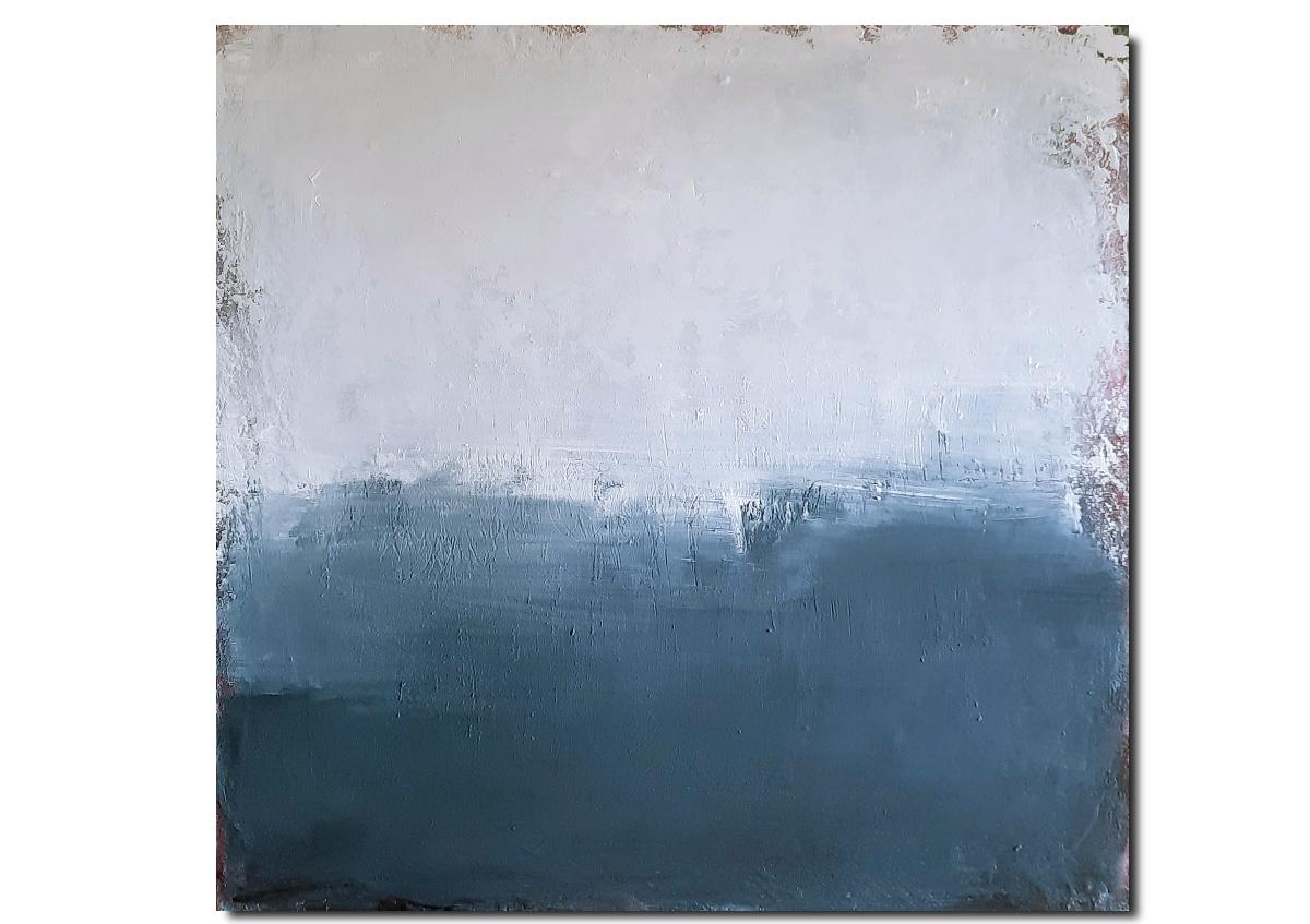 Abstraktes Graublaues Bild mit Weiß