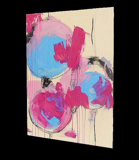 bild gemälde rosa hellblau