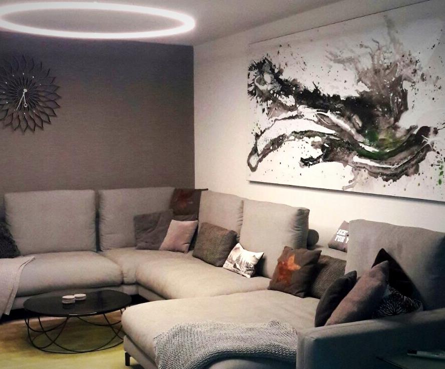 Bild s/w über Sofa - war eine Auftragsmalerei