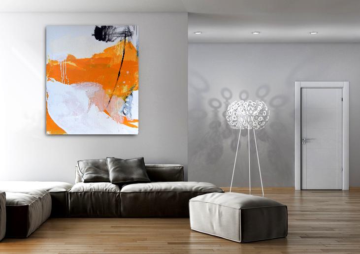 gelbes Gemälde