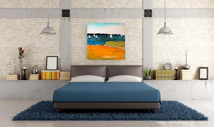 Schiffe Acrylbild