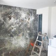 strukturtapete - Kunst direkt an der Wand - Unikat in xxxl