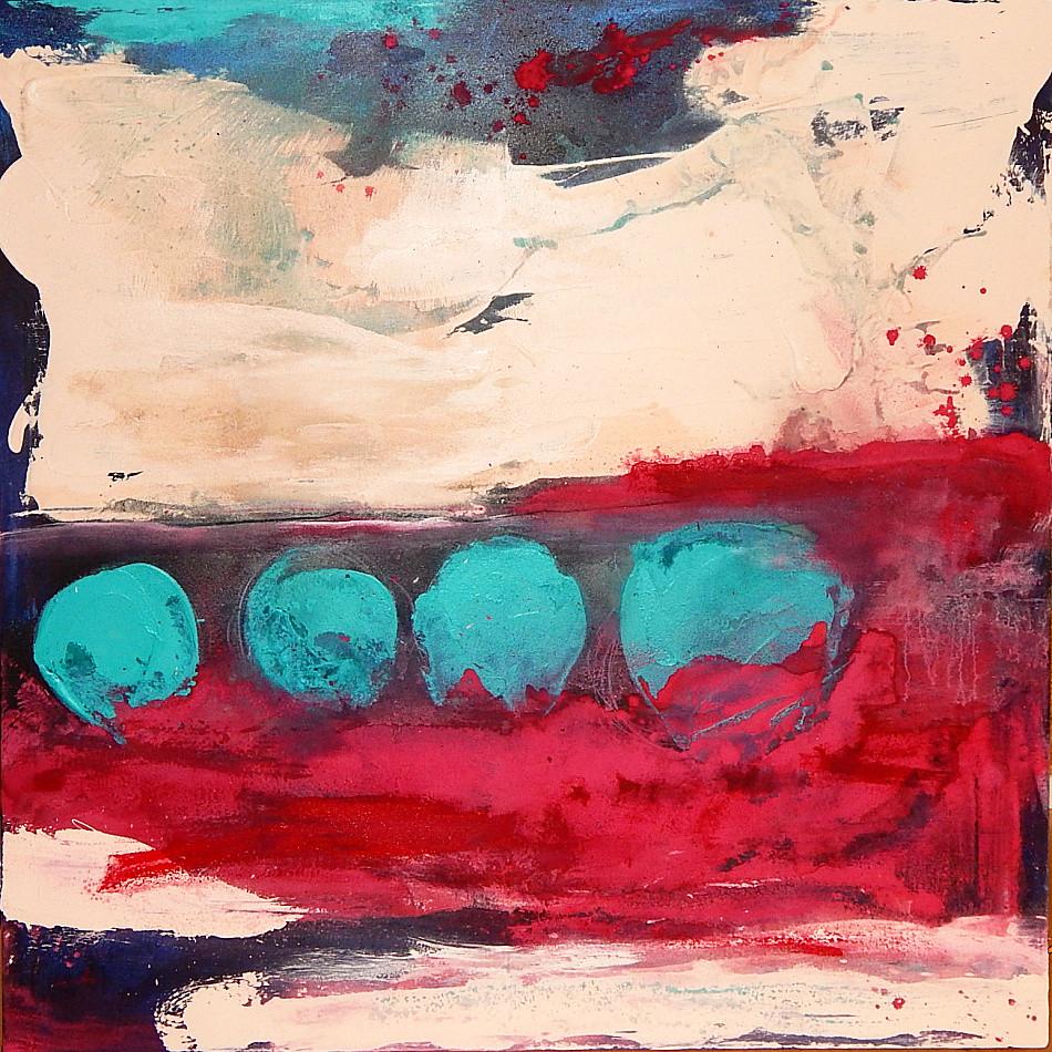 Titel: aFamilienausflug - gemaltes - abstraktes - Bild