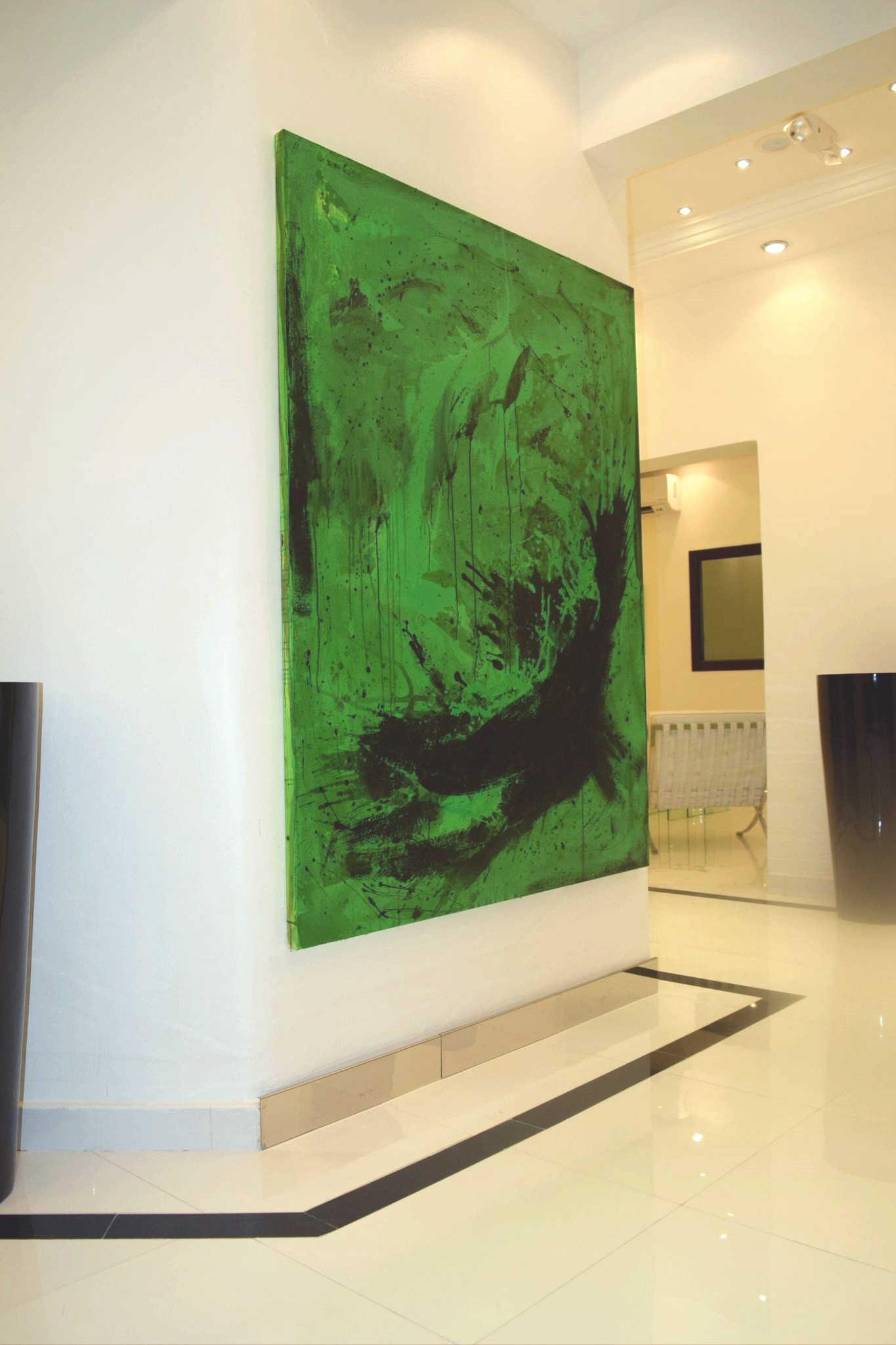 grünes Großformat