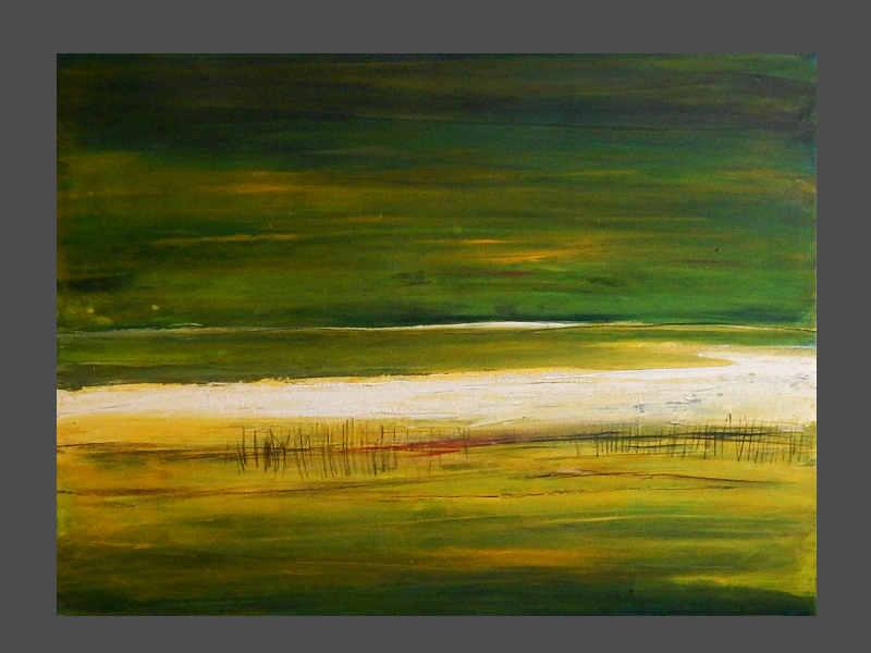 grünes abstraktes Bild  Landschaft