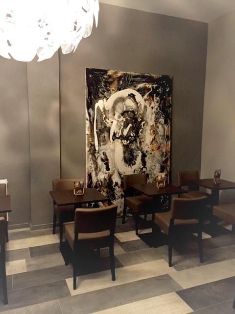 gemaltes abstraktes modernes grosses Bild
