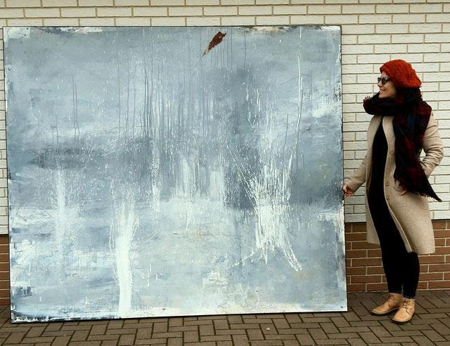 abstraktes graues großes Bild