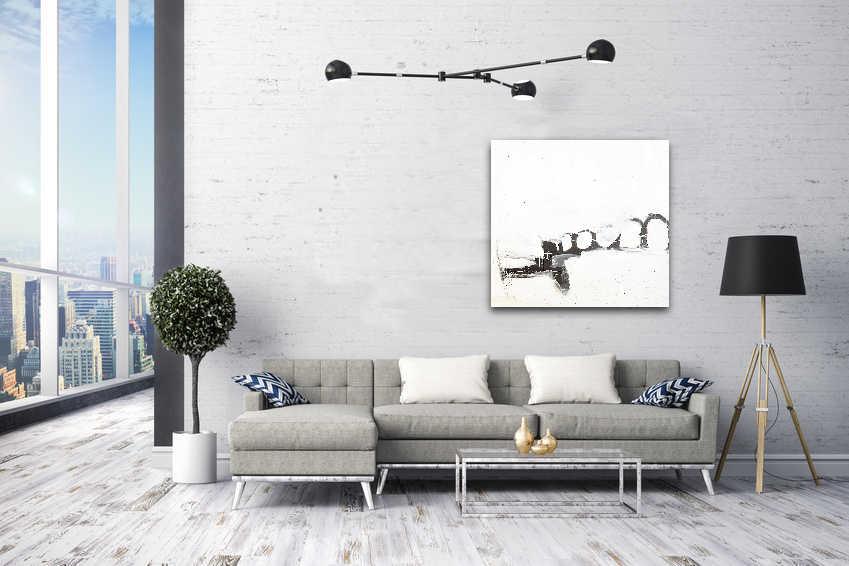 schlichtes weißes Bild/Gemälde