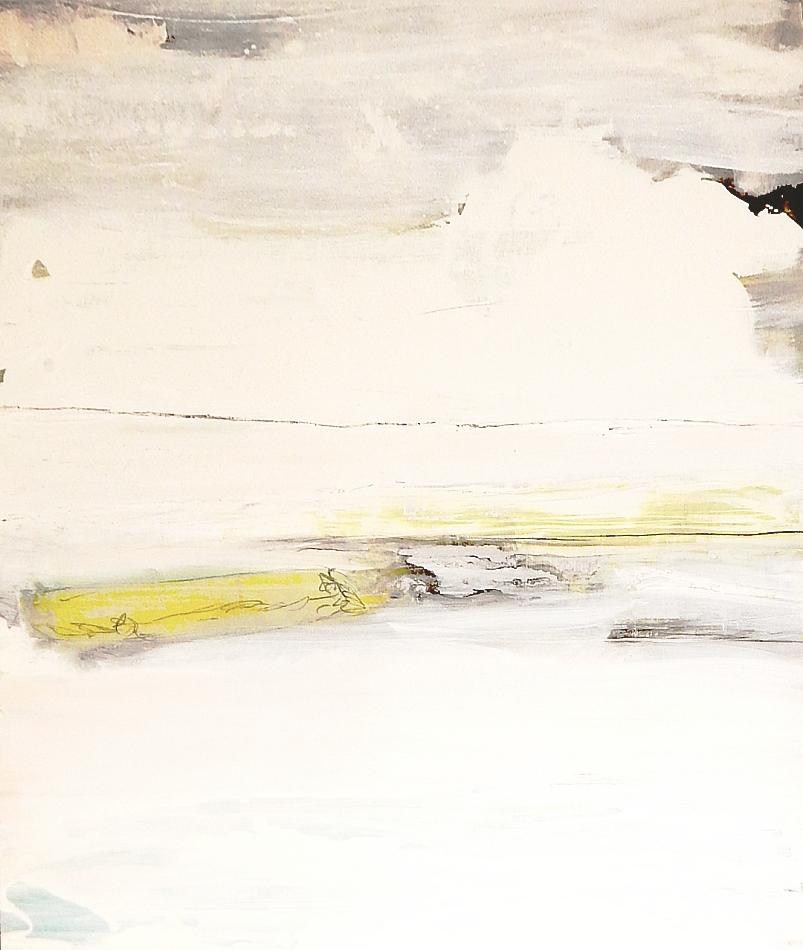 weises abstraktes Bild Kunst malerei