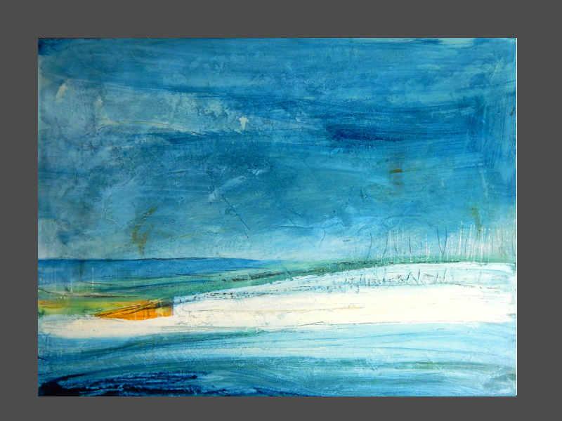blaue abskte landschaft