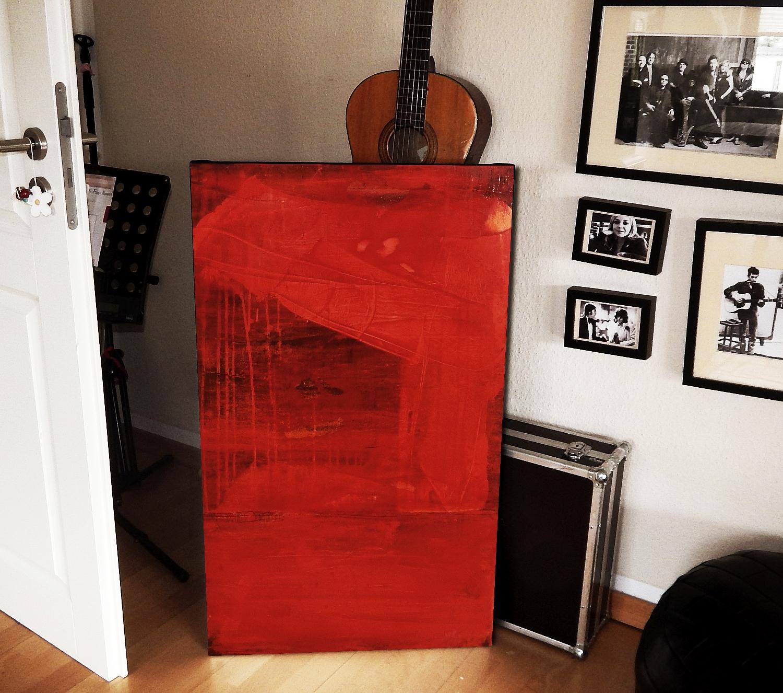 rote abstrakte gemälde - Ersehnter Liebesregen