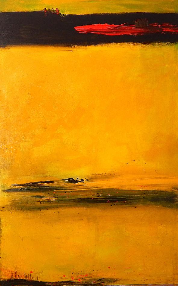 gelbes abstraktes Bild, Unikat