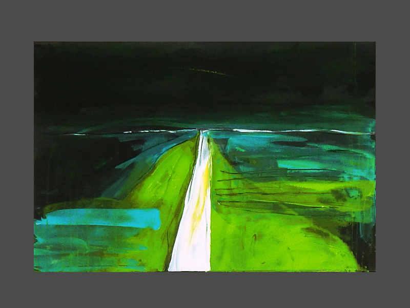 grünes Bild - schwarzer Hintergrund