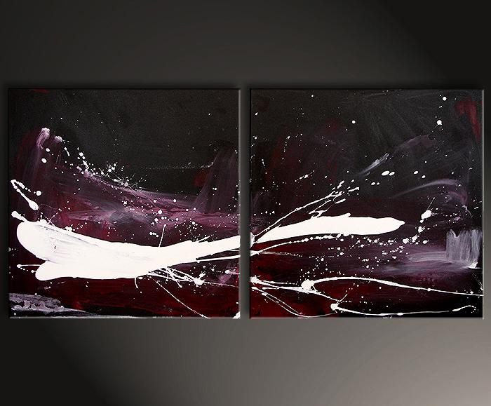 kunst malerei Bilder schwarz lila weiß