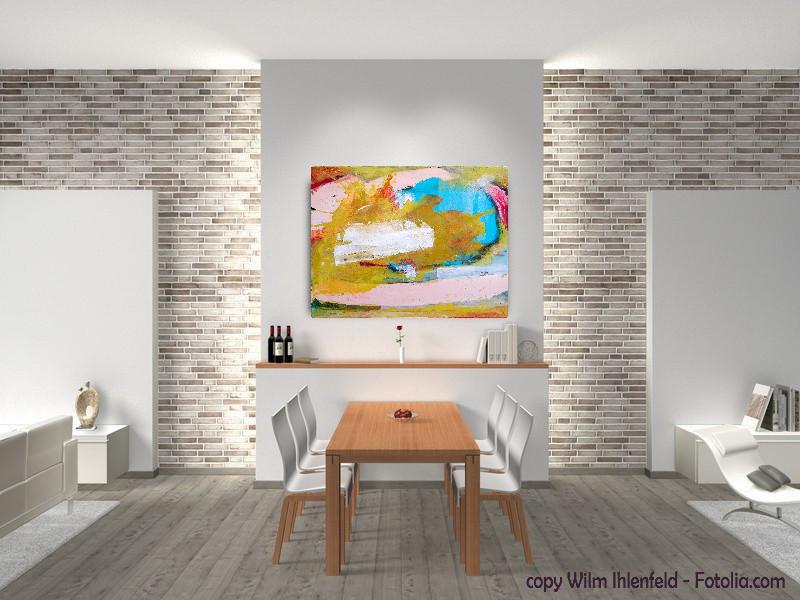 abstraktes Objekt im Wohnraum