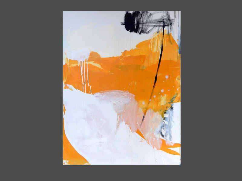 weisses abstraktes Bild mit gelb