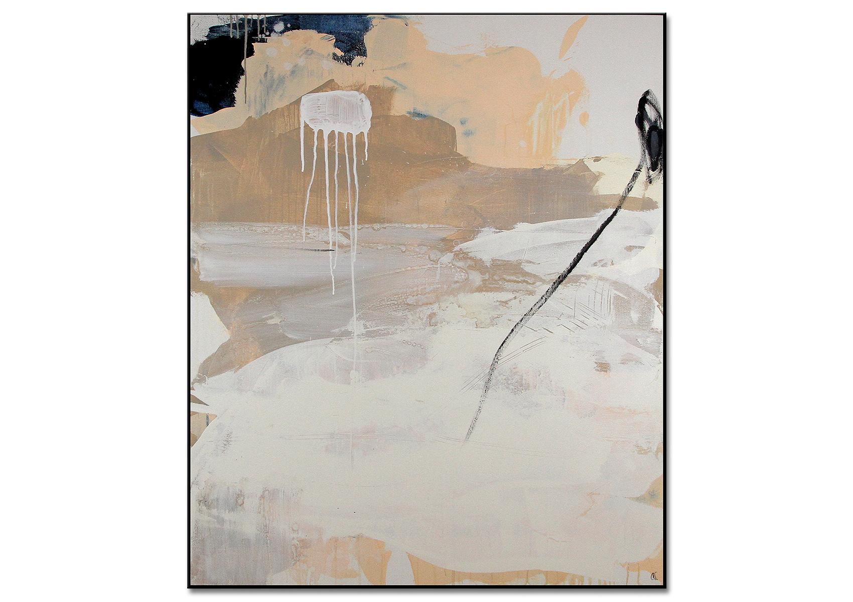Abstraktes Bild weiss beige braun