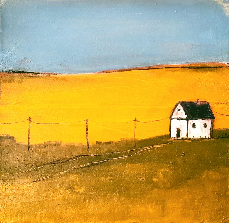 Landschaftsbild mit Haus
