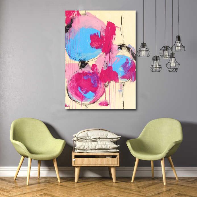 abstrakte Kunst im raum