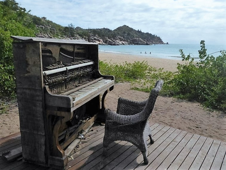 The piano at Radical Bay