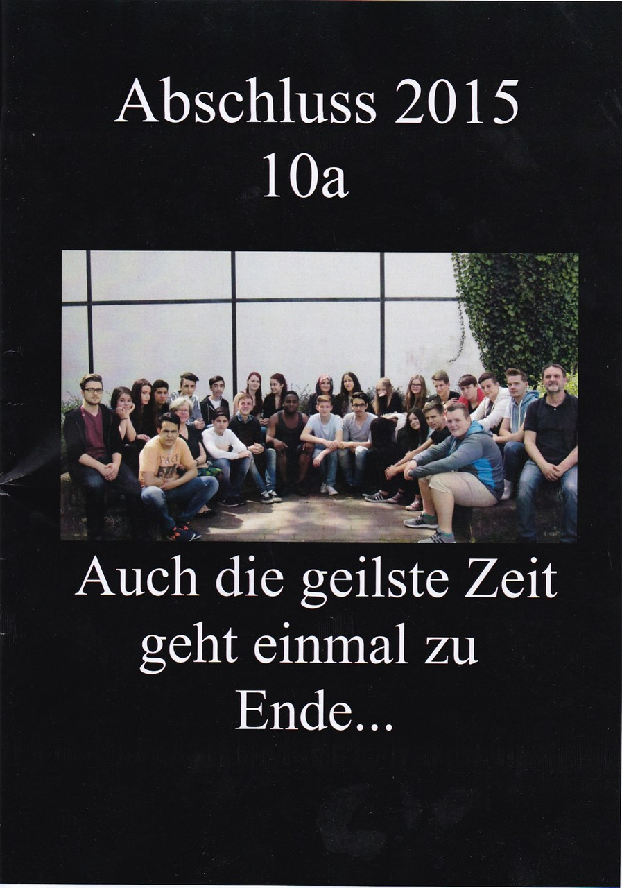 Abschlusszeitung der 10a - Projekt aus dem Modul 'Kreative Sprache'