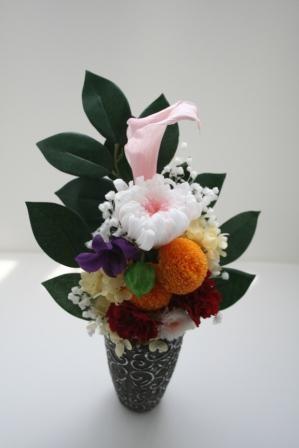カラフル仏花