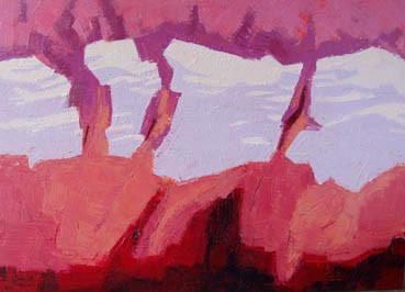 """Firn rot"" | Oel auf Leinwand | 100 x 140 cm"