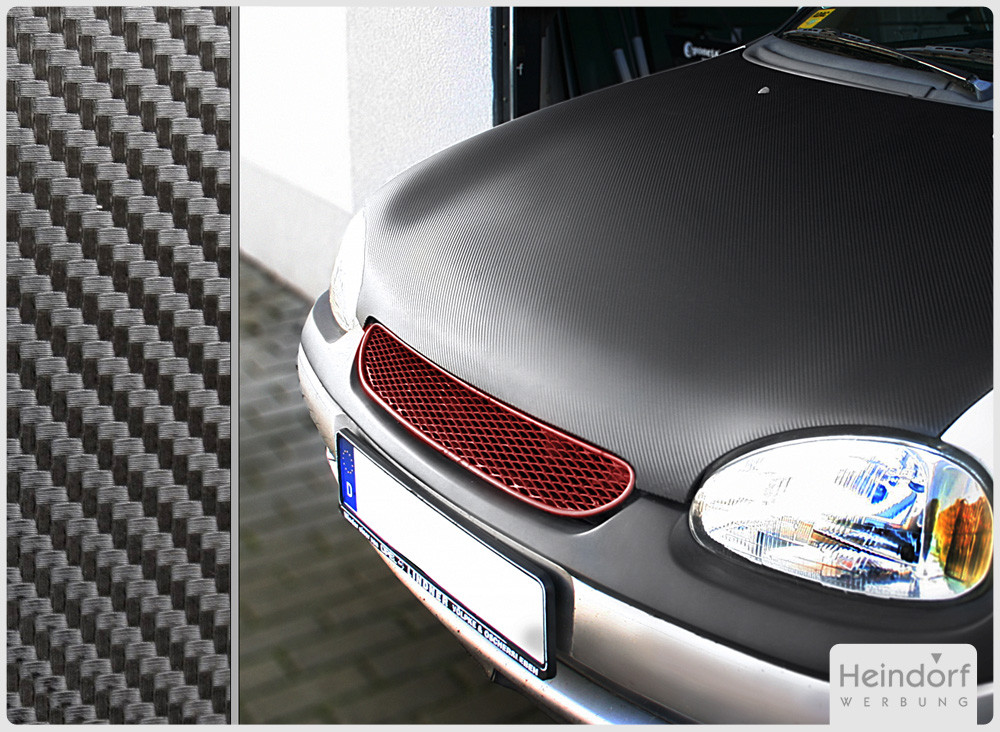Motorhaube mit Carbonfolie