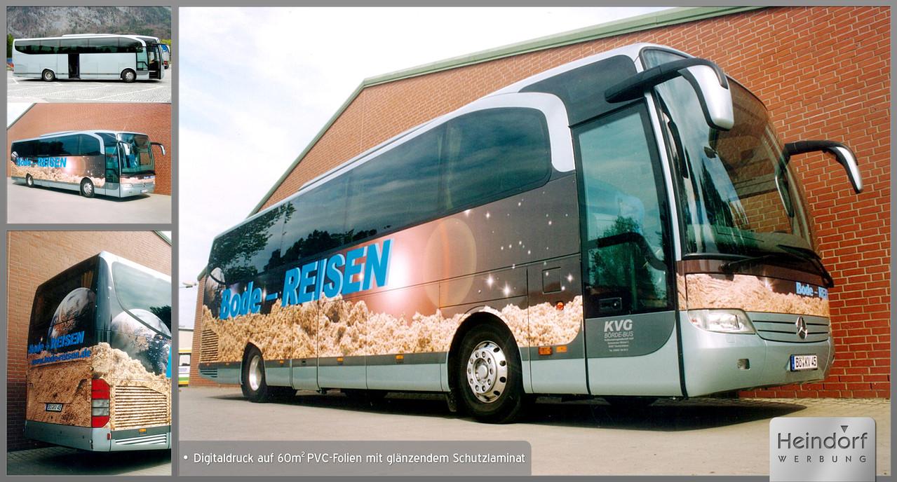 Bus mit Digitaldruckfolie und Schutzlaminat