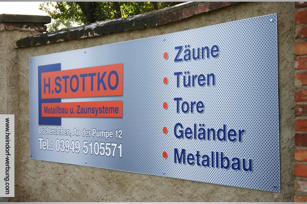 Alu-Dibond-Schild mit Digitaldruck auf PVC-Folie mit mattem Schutzlaminat