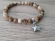 Jaspis Edelstein Armband mit Stern