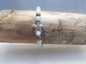 Amazonit Armband mit Silber Seestern