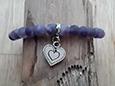 Violettes Edelstein Armband