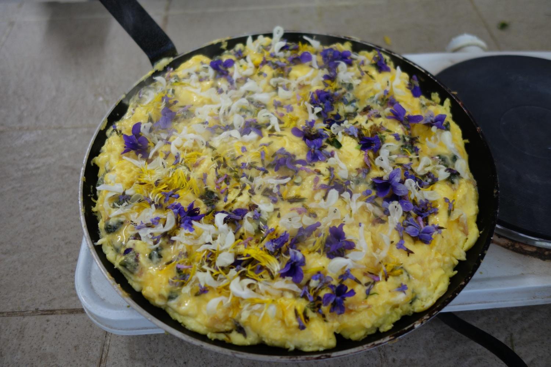 Omelette fleurie!