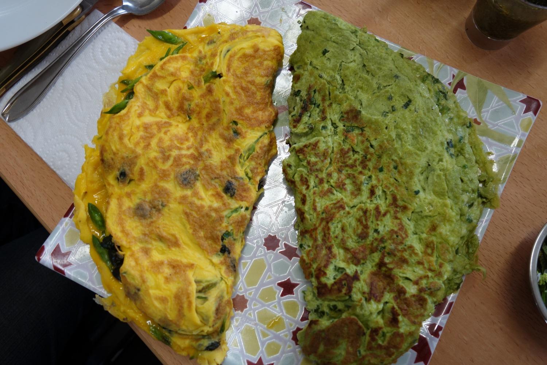 Omelette à l'ail des ours et ortie