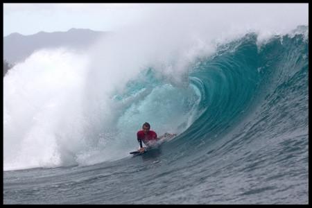 surf sur la côte