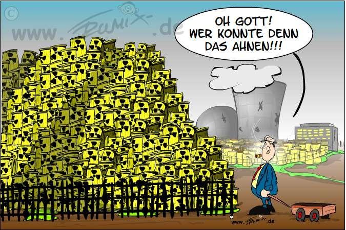 Überraschung: Die Kernkraftwerke (AKWs) produzieren tatsächlich Abfall ...